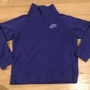 Purple Turtle- Neck Nike Sweater